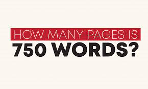 How-many-pages-are-750-words